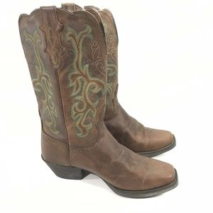 Justin Durant L2552 Turquoise Cowboy Western Boots